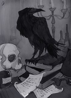 Once upon a midnight dreary by IrenHorrors on DeviantArt