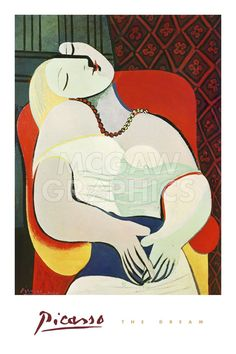 The Dream, 1932 by Pablo Picasso Art Print Figurative Museum Poster BID