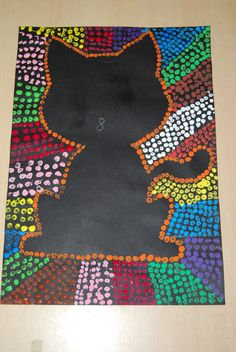 Dotpainting,how cool od this Club D'art, Art Club, Kindergarten Art, Preschool Art, Classe D'art, School Art Projects, Class Projects, Autumn Art, Aboriginal Art