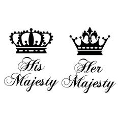 His And Her Majesty Crowns V2 Wall Sticker Decal | eBay