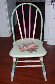Painted & decoupaged chair