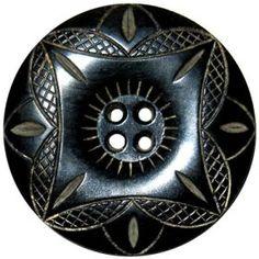 """ButtonArtMuseum.com - Carved  Horn Button, 1-3/8"""""""