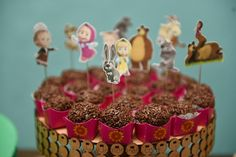Lembra-Art Produções: Festa Masha e o urso, ou melhor Catarina e os amigos
