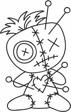 I would get this voodoo doll tattoo behind my shoulder 1 Tattoo, Tattoo Drawings, Art Drawings, Tattoo Flash, Voodoo Doll Tattoo, Voodoo Dolls, Colouring Pages, Adult Coloring Pages, Coloring Books