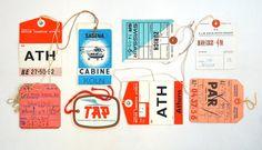 Vintage luggage tags.
