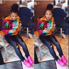 shirt shoes pink nike nike air max 90 neon pink air max 90 tie dye tye dye  jacket jacket rainbow hoodie sweatshirt laid back style black jeans ripped  jeans ... c5ba857795