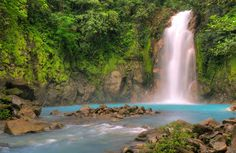 Rio Celeste Waterfall, Tenorio Volcano National Park, Costa Rica