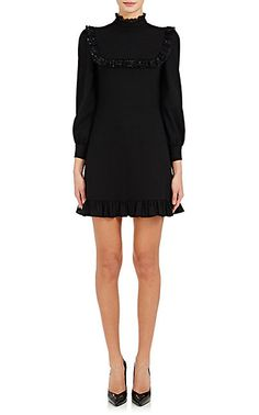 We Adore: The Ruffled-Tulle Shift Dress from Saint Laurent at Barneys New York