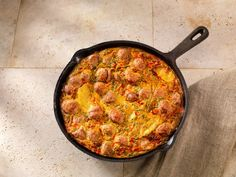 Italian Sausage and Potato Frittata: A North American twist on an Italian favourite.