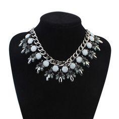 New Brand Fashion Vintage Flower Statement Bib Necklace Collar Women Chunky Chain Necklaces Pendants Zora Jewelry Wholesale 2015