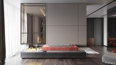 Apartment in Kiev on Behance Interior Architecture, Interior Design, Apartment Design, Living Area, Living Rooms, Living Room Designs, House, Behance, Furniture
