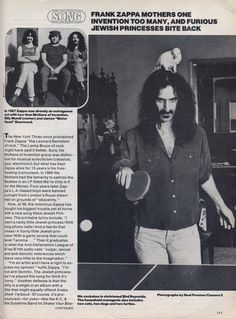 Frank Zappa, Composers, The Man, Musicians, Mothers, Fans, Memories, Photos, Memoirs