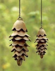pinecone wind chime