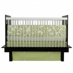 Oilo 3 Piece Crib Bedding Set  (Modern Berries Motif - Spring Green) - www.rightstart.com