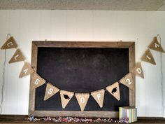 Class of 2014 Graduation Burlap Banner Triangle Flag Pennant Cap and Gown Bunting Graduate Party Sign on Etsy, $40.00