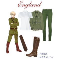 """Hetalia - England"" by anime-couture on Polyvore"