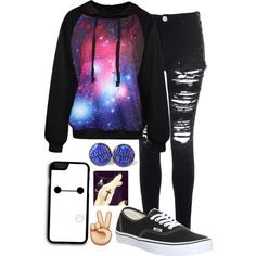 A fashion look from April 2015 featuring Glamorous jeans and Vans sneakers. Browse and shop related looks.