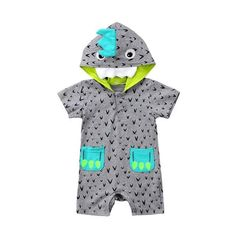 181bb6b21 Winter Girls Boys Baby Hooded Rompers Newborn Overalls Soft Coral ...