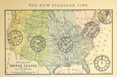 The new standard time _Higher geography_ 1881