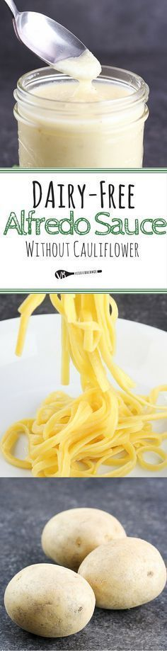 Dairy-Free Alfredo Sauce without Cauliflower {Gluten-Free, Vegan, Only 6 natural ingredients}