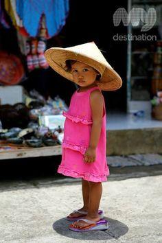 Girl at the rice paddies in Ubud