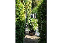 Bij een klassieke villa is door Groenplan een tijdloze tuin tuin ontworpen met stijlvol tuinhuis c.q. moderne oranjerie. www.groenplan.nl