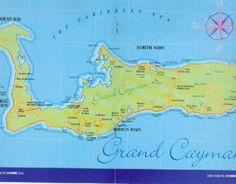 Grand Cayman Island Tourist Map Vintage Souvenir Postcard Florafauna
