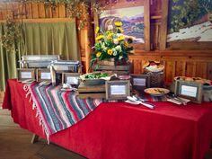 Western Buffet #coloradospringsevents #gardenofthegodsgourmetcatering #westernbuffet #thebroadmoorstables #catering
