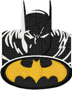Batman machine embroidery design. Machine embroidery design. www.embroideres.com