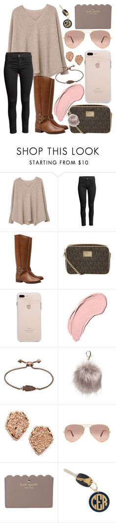 """It's cold outside"" by jadenriley21 ❤ liked on Polyvore featuring MANGO, Tory Burch, MICHAEL Michael Kors, NYX, Kendra Scott, Nila Anthony, Ray-Ban, Kate Spade and Hartford"