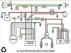 Xs650 Wiring Diagram Motorcycle Diagrams Pinterest pit bike ... on