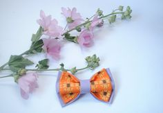 Embroidered lilac orange sunflower men's bowtie Lilac Orange pretied bow tie Groomsman bow tie bowtie men bow tie women bow tie unisex gift by accessories482 on Etsy