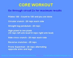 Fit and Healthy with Debbie: Core workout