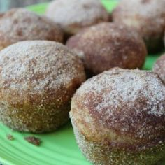 Applesauce puffs are muffins that are rolled in cinnamon sugar and taste like a donut. Great for breakfast or brunch, they are a delicious treat. Baking With Mom Apple Recipes, Baby Food Recipes, Sweet Recipes, Dessert Recipes, Cooking Recipes, Bread Recipes, Apple Desserts, Ww Recipes, Muffin Recipes