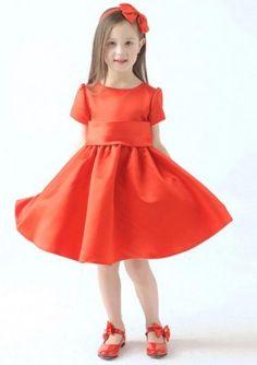 Red Flower Girl Dresses UK
