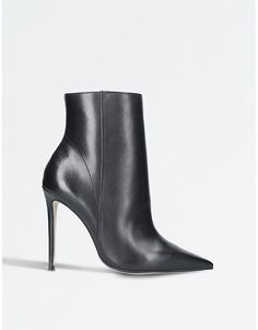 Carvela Ladies Black Spectacular Pointed Leather Boots