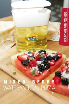 Mixed Berry Watermelon Pizza #NaturallyClean @Target #Ad