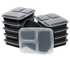 Chefland 3-compartment Microwave Safe Food Container With Lid/divided…