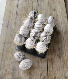 Who knew that silk fabric transfers onto eggshells as easily as the dye in a decorating kit? Regular... - Alison Gootee/Studio D
