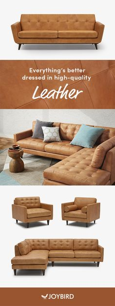 Handsome top-grain leather lends considerable style to the distinctive vintage charm of this versatile, sophisticated seating. My Living Room, Home And Living, Living Room Furniture, Home Furniture, Living Room Decor, Small Living, Coffee Table Design, Industrial Interiors, Industrial Cafe