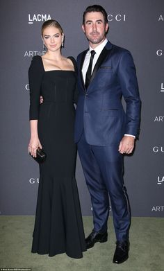 They are so in love: Model Kate Upton brought as her date fiance and baseball star  Justin...