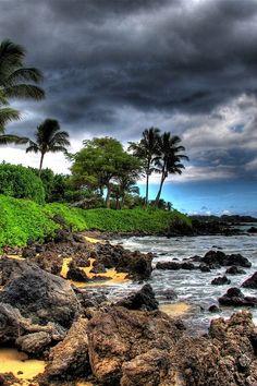 Maui, Hawaii -- this looks like the cove where I got married