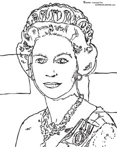 Queen Elizabeth By Andy Warhol coloring page from Andy Warhol category. Select from 21162 printable crafts of cartoons, nature, animals, Bible and many more.