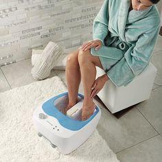 Brookstone® Aqua Jet Heated Foot Spa