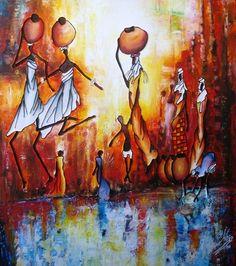 Peinture Côte d'Ivoire - Idrissa Savadogo