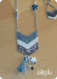 tissage de perles à l'aiguille méthode peyotte