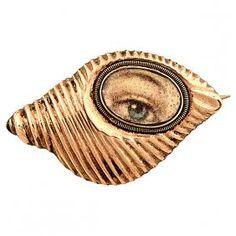 Lover's Eye 19th century shell form brooch : Lot 23                                                                                                                                                      More