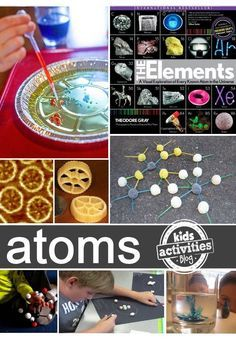 10 fun ways to learn about atoms and molecules for kids - with simple instructions to build a model atom as a building block for learning. 6th Grade Science, Middle School Science, Elementary Science, Science Classroom, Teaching Science, Science Education, Science Activities, Science Projects, Science Experiments