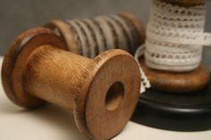 Lege houten klosje | *Lint, touw, klosjes & meer geWOONgenieten.eu