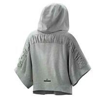 NWT $125 Stella McCartney Adidas Yoga Organic Cotton Hoodie L Heather Grey